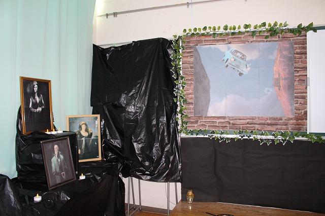 2年5組「ホグワーズ魔法魔術学校」(オブジェ展示)